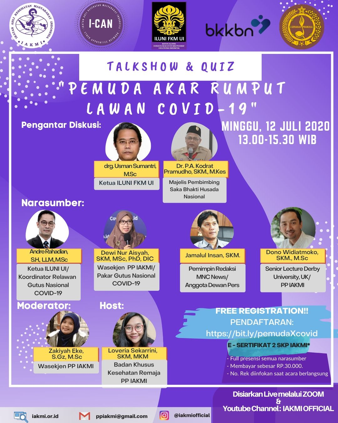 Talkshow and Quiz : Pemuda Akar Rumput Lawan COVID-19