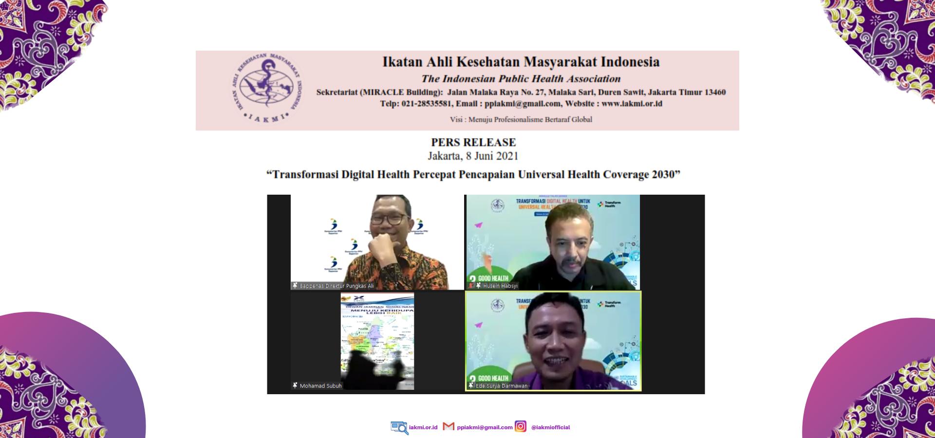 Siaran Pers: Transformasi Digital Health Percepat Pencapaian Universal Health Coverage 2030